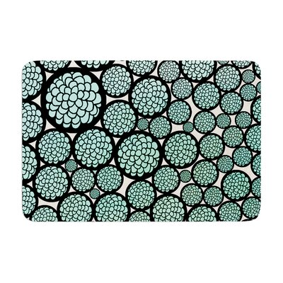 Pom Graphic Design Blooming Trees Circles Memory Foam Bath Rug