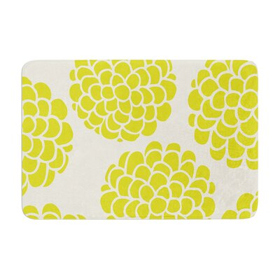 Pom Graphic Design Grape Blossoms Circles Memory Foam Bath Rug