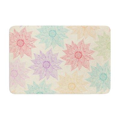 Pom Graphic Design Spring Florals Memory Foam Bath Rug