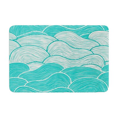 Pom Graphic Design the Calm and Stormy Seas Memory Foam Bath Rug