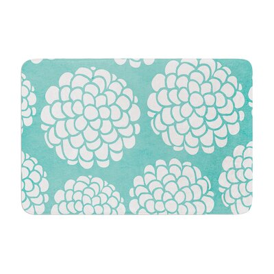 Pom Graphic Design Hydrangea's Blossoms Circles Memory Foam Bath Rug