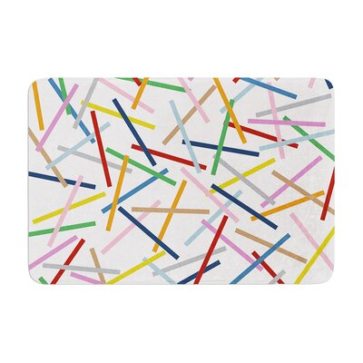Project M Sprinkles Memory Foam Bath Rug Color: Gray