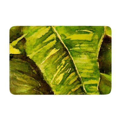 Rosie Tropical Garden Leaf Memory Foam Bath Rug