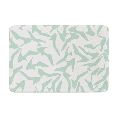 Project M Shoe Memory Foam Bath Rug Color: Mint