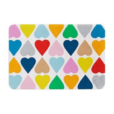 Project M Diamond Hearts Memory Foam Bath Rug