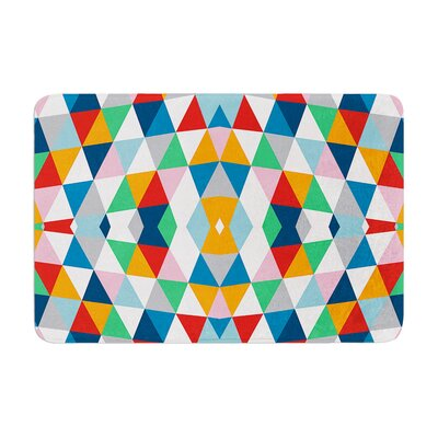 Project M Geometric Memory Foam Bath Rug