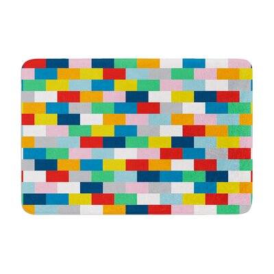 Project M Bricks Memory Foam Bath Rug