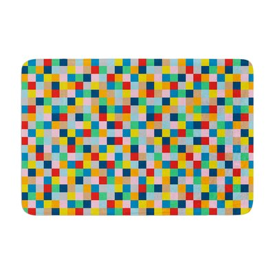 Project M Colour Blocks Geometric Memory Foam Bath Rug