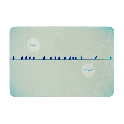 Robin Dickinson Tweeting Memory Foam Bath Rug