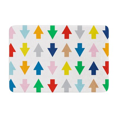 Project M Arrows Up and Down Memory Foam Bath Rug Color: White