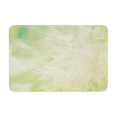 Robin Dickinson Love You More Memory Foam Bath Rug