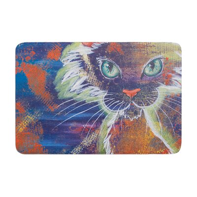 Padgett Mason Rave Kitty Memory Foam Bath Rug