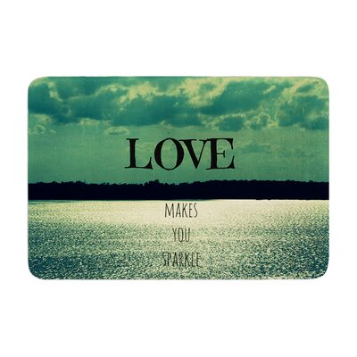 Robin Dickinson Love Makes You Sparkle Memory Foam Bath Rug
