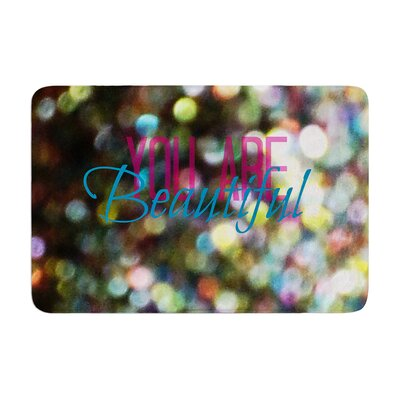 Robin Dickinson You Are Beautiful II Art Object Memory Foam Bath Rug