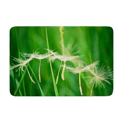 Robin Dickinson Best Wishes Flower Memory Foam Bath Rug