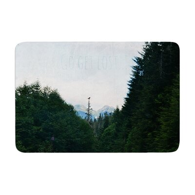 Robin Dickinson Go Get Lost Forest Memory Foam Bath Rug