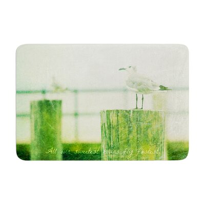 Robin Dickinson Sweetest Hours Seagull Memory Foam Bath Rug
