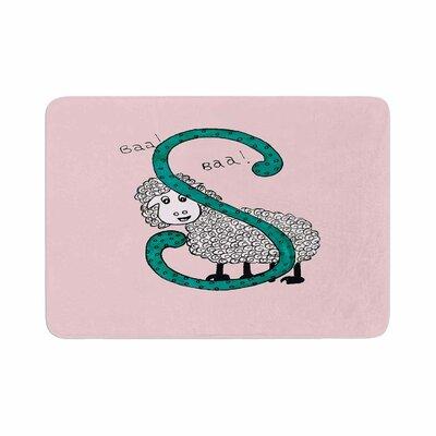 Rosie Sis for Sheep Memory Foam Bath Rug Color: Pink