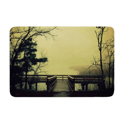 Robin Dickinson Fog on the River Memory Foam Bath Rug