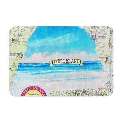 Rosie Tybee Island Ocean View Memory Foam Bath Rug