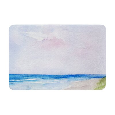 Rosie Wet Sand Beach View Memory Foam Bath Rug