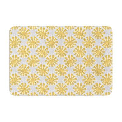 Apple Kaur Designs Sunburst Memory Foam Bath Rug
