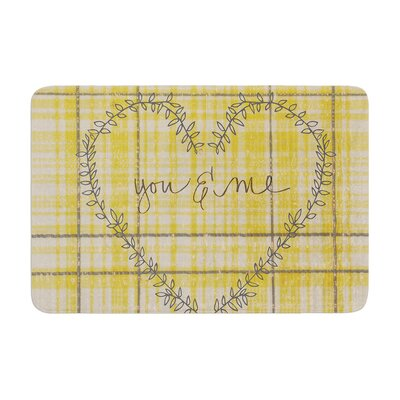 Robin Dickinson You and Me Memory Foam Bath Rug