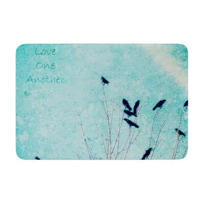 Robin Dickinson Love One Another Birds Memory Foam Bath Rug