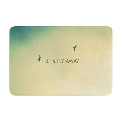 Richard Casillas Lets Fly Away Memory Foam Bath Rug