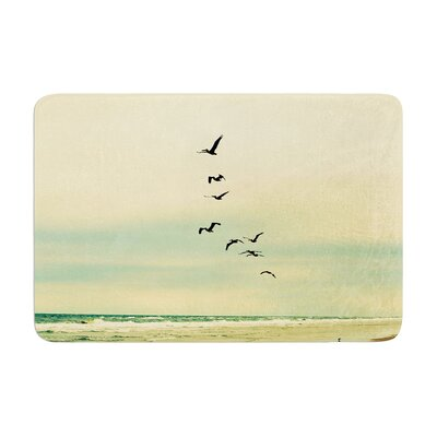 Robin Dickinson Across the Endless Sea Birds Memory Foam Bath Rug