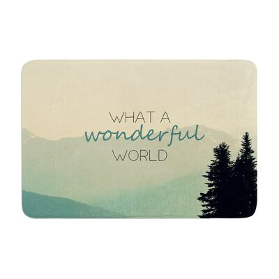 Robin Dickinson What a Wonderful World Memory Foam Bath Rug
