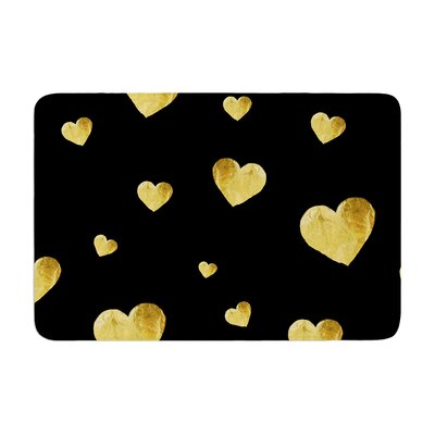 Robin Dickinson Floating Hearts Memory Foam Bath Rug