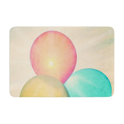 Robin Dickinson Balloons Clouds Memory Foam Bath Rug