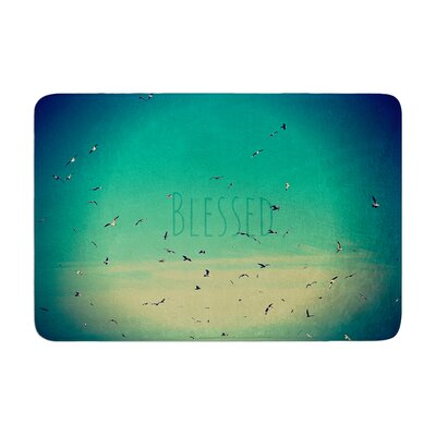 Robin Dickinson Blessed Birds Memory Foam Bath Rug