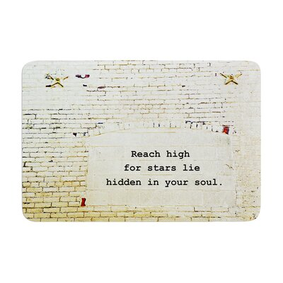 Robin Dickinson Reach High Brick Wall Memory Foam Bath Rug