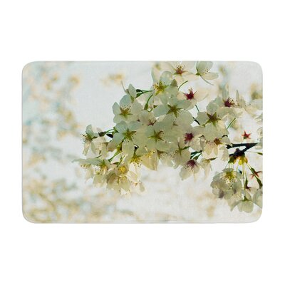 Robin Dickinson Cherry Blossoms Flower Memory Foam Bath Rug