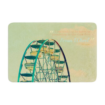 Robin Dickinson Ferris Wheel Memory Foam Bath Rug