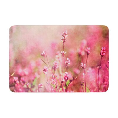 Robin Dickinson Its a Sweet Sweet Life Flowers Memory Foam Bath Rug