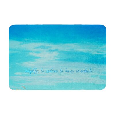 Robin Dickinson Simplify Beach Sky Memory Foam Bath Rug