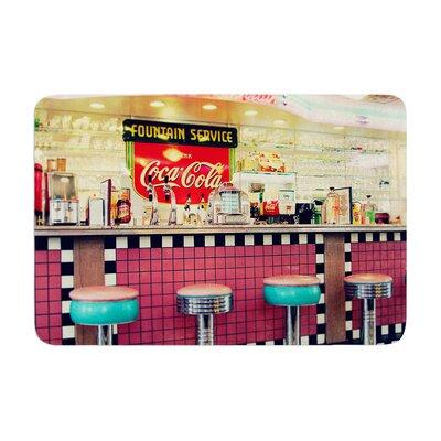 Sylvia Cook Retro Diner Coca Cola Memory Foam Bath Rug