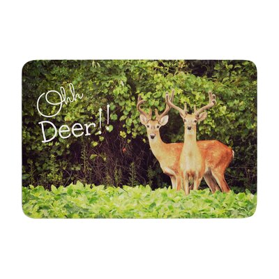 Robin Dickinson Ohh Deer Memory Foam Bath Rug