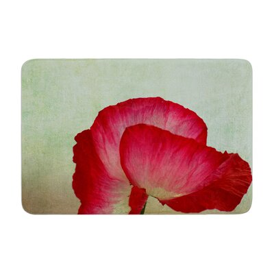 Robin Dickinson La Te Da Magenta Poppies Memory Foam Bath Rug
