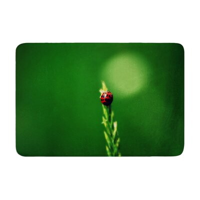 Robin Dickinson Ladybug Hugs Memory Foam Bath Rug