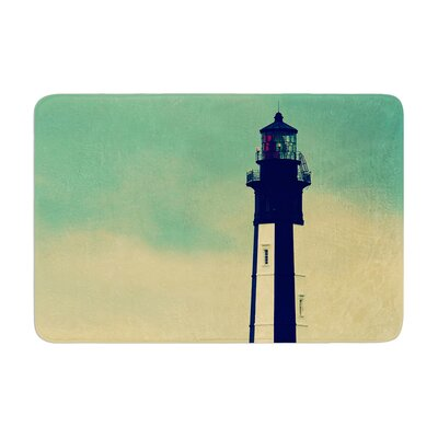 Robin Dickinson New Cape Henry Lighthouse Memory Foam Bath Rug