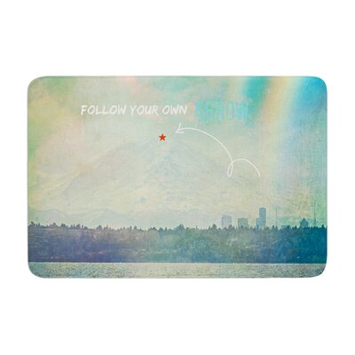 Robin Dickinson Follow Your Own Arrow City Landscape Memory Foam Bath Rug