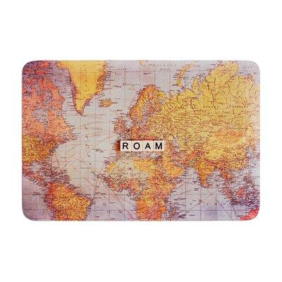 Sylvia Cook Roam Map World Memory Foam Bath Rug