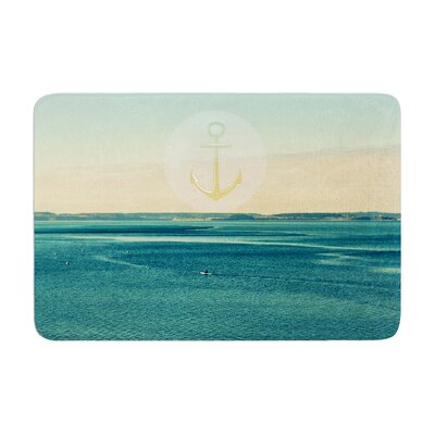 Robin Dickinson Row Your Own Boat Ocean Memory Foam Bath Rug
