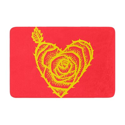 BarmalisiRTB I Love Roses Heart Thorns Memory Foam Bath Rug
