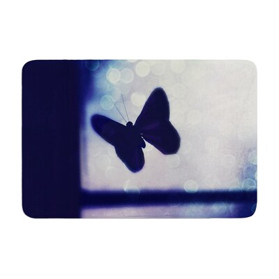Robin Dickinson Enchanted Butterfly Memory Foam Bath Rug