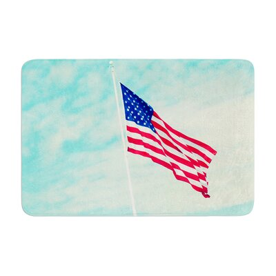 Robin Dickinson USA Colors Flag Memory Foam Bath Rug